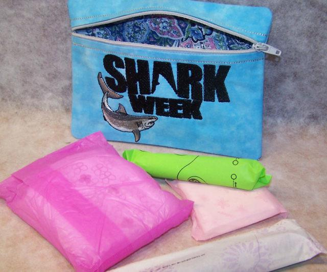 Shark Week Period Pouch